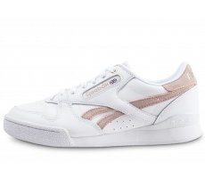 Chaussures Reebok Phase 1 Pro X Montana Cans blanche et rose