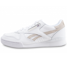 Chaussures Reebok Phase 1 Pro x Montana Cans blanche et beige