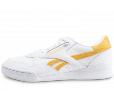 Chaussures Reebok Phase 1 Pro X Montana Cans blanche et jaune
