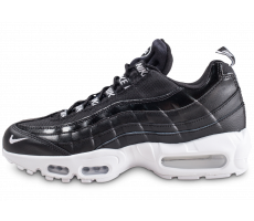 Chaussures Nike Air Max 95 Premium Overbranded noire et blanche