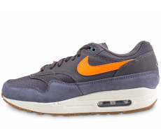 Chaussures Nike Air Max 1 gris et orange