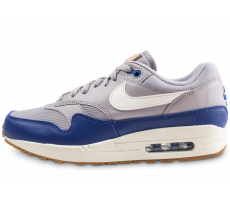 Chaussures Nike Air Max 1 grise et bleue