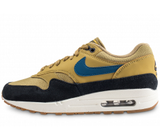 Chaussures Nike Air Max 1 noire et or