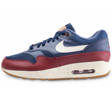 Chaussures Nike Air Max 1 bleue et rouge