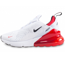 Chaussures Nike Air Max 270 blanche et rouge