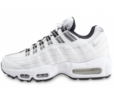 Chaussures Nike Air Max 95 blanche et argent femme