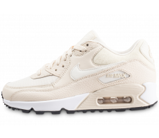 quality design aaadf a040a Chaussures Nike Air Max 90 beige et blanche femme