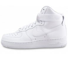 Chaussures Nike Air Force 1 High triple blanc femme
