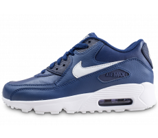 Chaussures Nike Air Max 90 Leather blue void junior