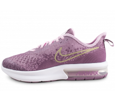 Chaussures Nike Air Max Sequent 4 violet et or junior