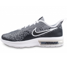 Chaussures Nike Air Max Sequent 4 noire et blanche junior