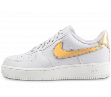Chaussures Nike Air Force 1 '07 Metallic clash grise et or femme