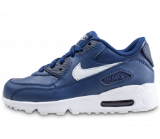 Chaussures Nike Air Max 90 Leather bleue enfant