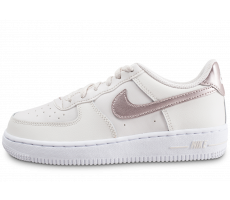 Chaussures Nike Air Force 1 Low blanc or rose enfant