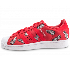 Chaussures adidas Superstar The Farm Company rouge femme