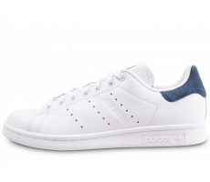 Chaussures adidas Stan Smith blanche et bleue femme