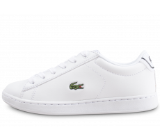 Chaussures Lacoste Carnaby Evo blanche et noire enfant