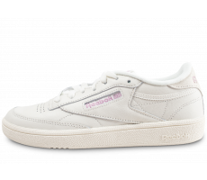 Chaussures Reebok Club C 85 blanche et rose