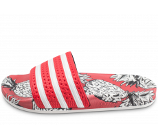 Chaussures adidas Sandales Adilette x The FARM Company rouge femme