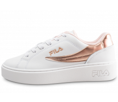Chaussures Fila Overstate Low blanche et or junior