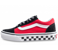 Chaussures Vans Old Skool Pop rouge enfant
