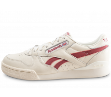 Chaussures Reebok Phase 1 Pro blanche et rouge