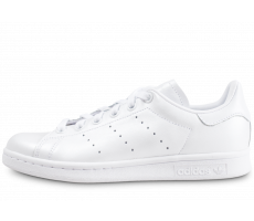 Chaussures adidas Stan Smith triple blanc shinny femme