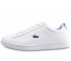 Chaussures Lacoste Carnaby blanche et bleue junior