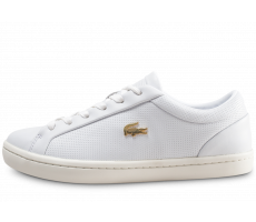 Chaussures Lacoste Straightset blanche femme