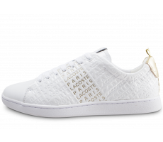 Chaussures Lacoste Carnaby Evo blanche et or