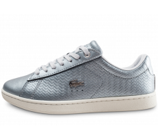Chaussures Lacoste Carnaby argent et blanc femme