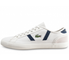 Chaussures Lacoste Sideline blanche et bleue