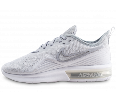 Chaussures Nike Air Max Sequent 4 blanc gris