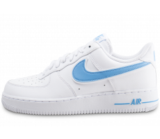Chaussures Nike Air Force 1 '07 blanche et bleue