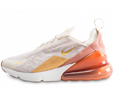 Chaussures Nike Air Max 270 beige orange or femme