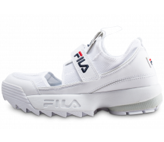 Chaussures Fila Sandales Disruptor blanches femme
