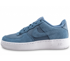 Chaussures Nike Air Force 1 Suede bleue junior