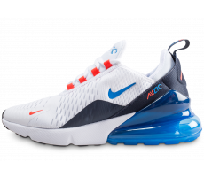 new product 37532 4e5f5 Chaussures Nike Air Max 270 blanche et bleue junior