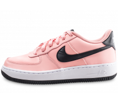 Chaussures Nike Air Force 1 Vday rose et noire junior
