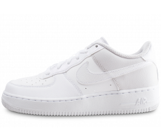 Chaussures Nike Air Force 1 blanche et grise junior