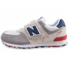 Chaussures New Balance YV574UJD beige bleu rouge junior