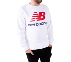 Textiles New Balance Sweat Essential Stacked blanc