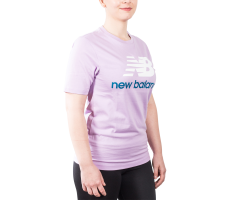 Textiles New Balance T-Shirt Essential Stacked violet mixte