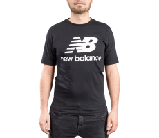 Textiles New Balance T-shirt Essential Stacked noir mixte