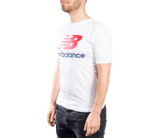 Textiles New Balance T-shirt Essential Stacked blanc  mixte