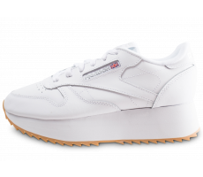 a34cd82db2db6 Chaussures Reebok Classic Leather Double blanche femme