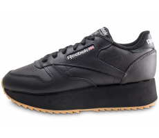 Chaussures Reebok Classic Leather Double noire femme