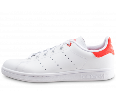 Chaussures adidas Stan Smith blanche et rouge junior
