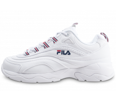 Chaussures Fila Ray blanche rouge et bleue