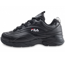 Chaussures Fila Ray noire blanche et rouge
